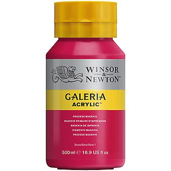Winsor & Newton Galeria Acrylic Paint 500ml - Process Magenta