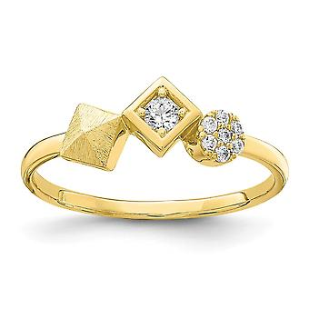 10k Cubic Zirconia Ring Size 7 Jewelry Gifts for Women