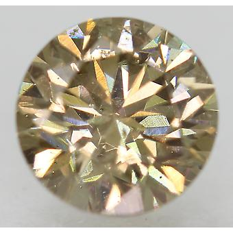 Cert 1.00 Carat Int Brown VS1 Round Brilliant Enhanced Natural Diamond 6.27m 3VG