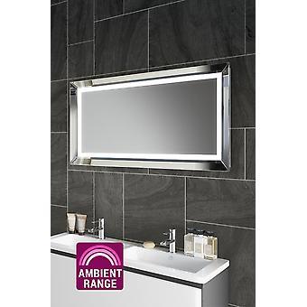 Espelho de banheiro LED de barbear ambiente com demister pad e sensor k508R