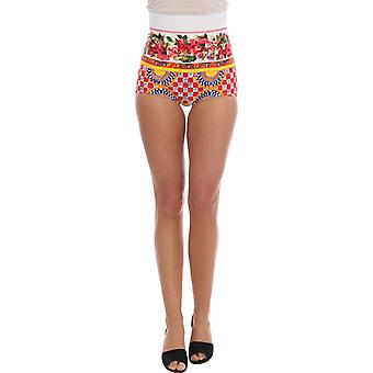 Dolce & Gabbana Multicolor Carretto Sicily Print Hot Pants Shorts
