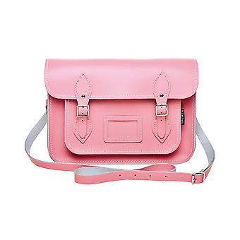 Zatchels Womens/Ladies Handcrafted Pastel Leather Mag Dots Top Handle Satchel Bag (British Made)