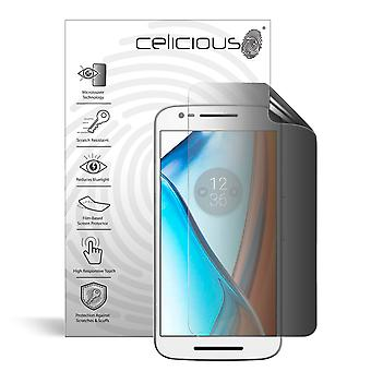 Celicious Privacy 2-weg Antispion filteren Screen Protector Film compatibel met de Motorola Moto E3