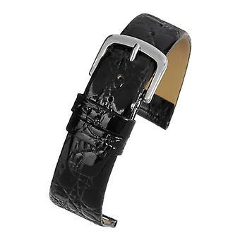 Krokodil korrel horloge band bruin lederen gouden gesp grootte 8mm tot 22mm