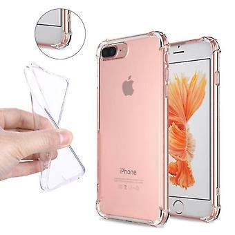Stuff Certified® iPhone Plus 8 Transparent Clear Bumper Case Cover Silicone TPU Case Anti-Shock