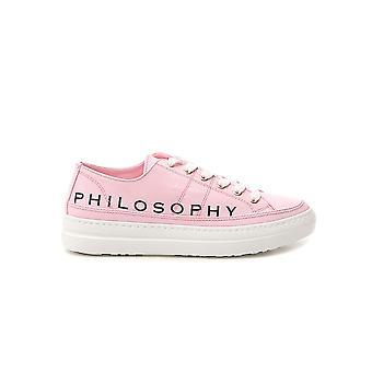Filosofia Por Lorenzo Serafini 32230782a0132 Women's Pink Fabric Sneakers