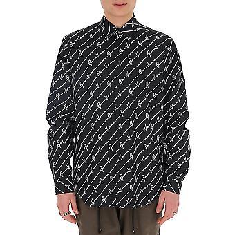 Versace A77215a232864a7008 Men's Black Cotton Shirt