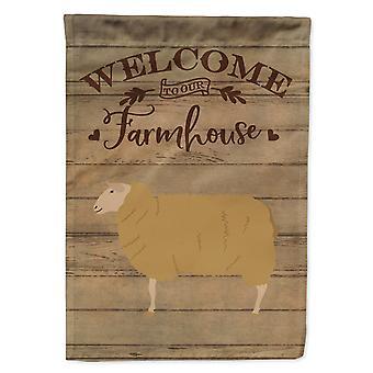East Friesian Sheep Welcome Flag Canvas House Size