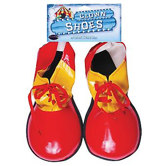 Red Clown Shoes Adult
