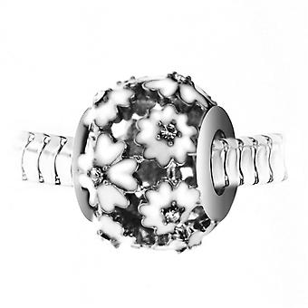 Charm perle en acier par SC Crystal BEA0257