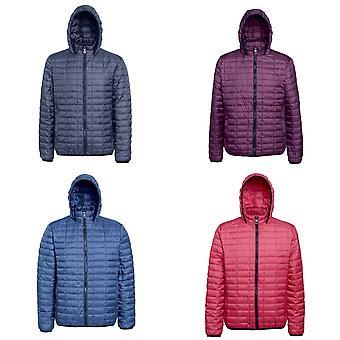 2786 Mens Honeycomb Padded Hooded Jacket