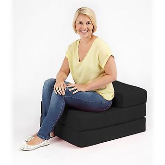 Ready Steady Bed Single 1 Istuttava 100 % puuvillatvilli taitettava zbed futon patja, musta
