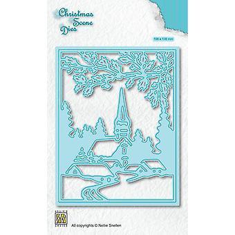 Nellie's Wahl Weihnachtsszene Die Snowy Dorf CRSD005 (10-19)
