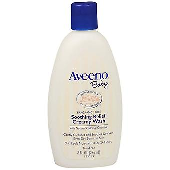 Aveeno baby soothing relief creamy wash, fragrance free, 8 oz