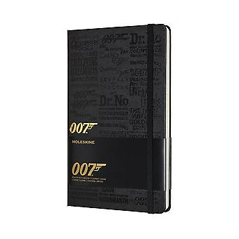Moleskine limited edition notebook james bond collection large- ruled - titles