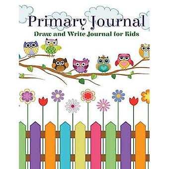 Primary Journal Draw and Write Journal for Kids Cute Rainbow Owl Cover Design by Kids & Creative