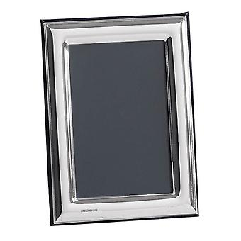 Orton West Plain Polished Photo Frame 5x7 - Silver