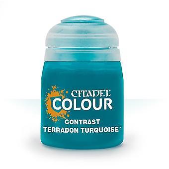 Contrast: Terradon Turquoise (18ml) ,Citadel Paint Contrast,Warhammer 40,000