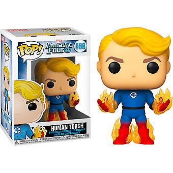 Fantastic Four Human Torch with Flames US Excl Pop! Vinil