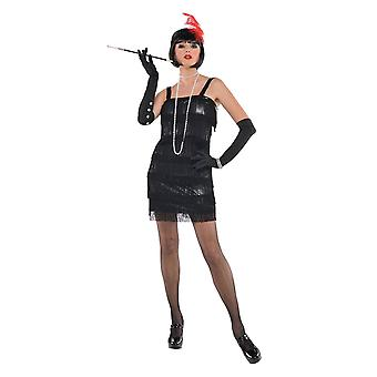 Femmes années 1920 Flashy Flapper Fancy Dress Costume (Taille 8-10)