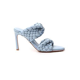Bottega Veneta 618757vbgt04759 Dames's Lichtblauwe lederen sandalen