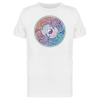 """Dekorative Wasser """"Wellenlinien"""" Yin Yang T-Shirt Herren-Bild von Shutterstock"""