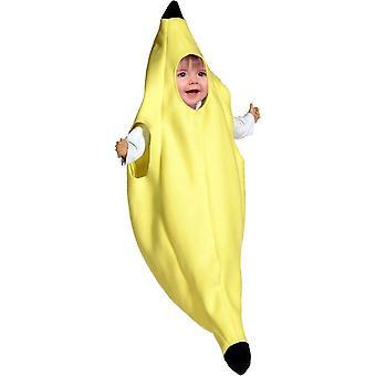 Bananen baby kostuum
