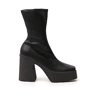 Stella Mccartney 800252w1il01000 Women's Black Faux Leather Enkellaarsjes