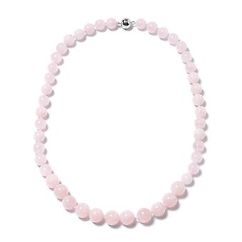 Roze Morganite Kralen ketting voor dames Sterling Silver Size 20