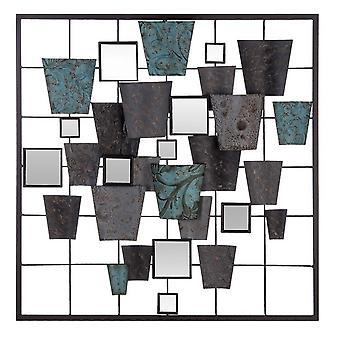 Decorazione Da Parete Lines Color Multicolore in Metallo, Vetro 50x3x50 cm