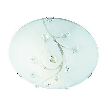Ceiling Light 40 Cm, In Crystal And Glass