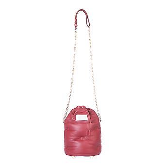 Maison Margiela S56wg0111pr818t4074 Women's Red Leather Shoulder Bag