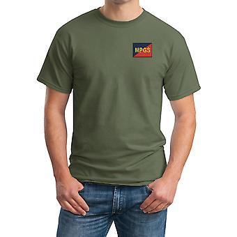 Militaire Provost Guard geborduurd Logo van de TRF - officiële Britse leger katoenen T Shirt
