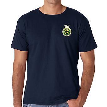 HMS Trafalgar Embroidered Logo - Official Royal Navy Ringspun T Shirt