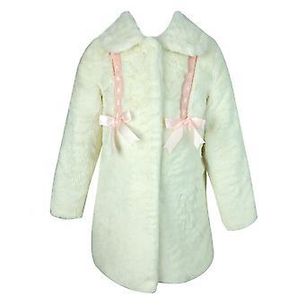 Designerbaby's / meisjes ivoor Faux Fur jas met Kozakken hoed