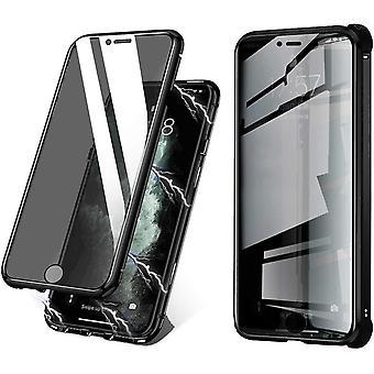 Mobiles Gehäuse aus doppelseitigem gehärtetem Glas für iPhone 7 Plus - schwarz