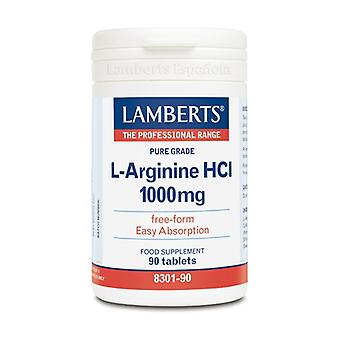 L-Arginine HCL 90 tablets of 1000mg
