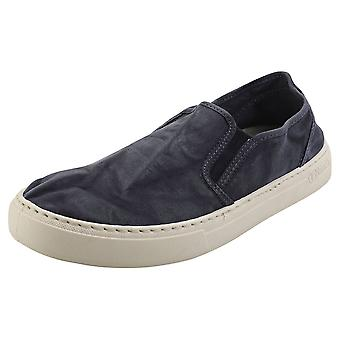 Natural World Old Gazelle Mens Slip On Shoes in Marine