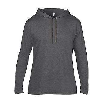 Anvil Mens  Adult Fashion Basic Long Sleeve Hooded T Shirt