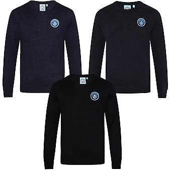 Manchester City FC Official Football Gift Mens Crest Knitted Jumper
