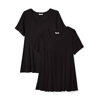Daily Ritual Naiset's Plus Koko Jersey Lyhythihainen Pyöreä kaula Swing T-paita, ...