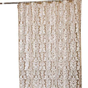 Cortina de ducha impermeable espesa, baño a prueba de moho con cortina de ducha de impresión de gancho