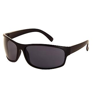 Sunglasses Unisex matt black with grey lens (185 P)