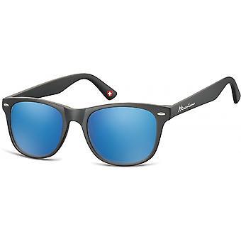 Sunglasses Unisex Travelers matt black/blue (MS10)