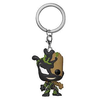 Venom Venomized Baby Groot Pocket Pop! Keychain