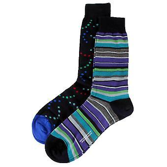 Pantherella Merino Wool Gift Box Socks - Navy/Grey/Purple
