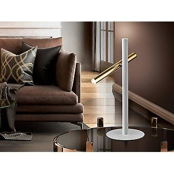 Schuller Varas - Lampada da tavolo a 2 luci integrata Matt White, Oro