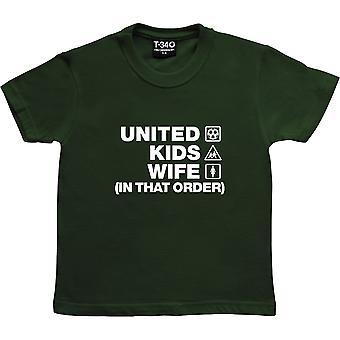 United Kids Moglie (In quell'ordine) Racing Green Kids' T-Shirt