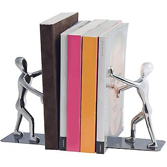 Bookend Shadow 17 x 27 cm Zink Chrom 2 Stück