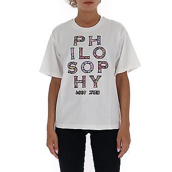 Filosofia Por Lorenzo Serafini 0701574j0002 Feminino'camiseta de algodão branco